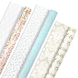 Hallmark All Occasion Reversible Wrapping Paper Bundle - Pastel & Metallic Celebrate (3-Pack: 75 sq....