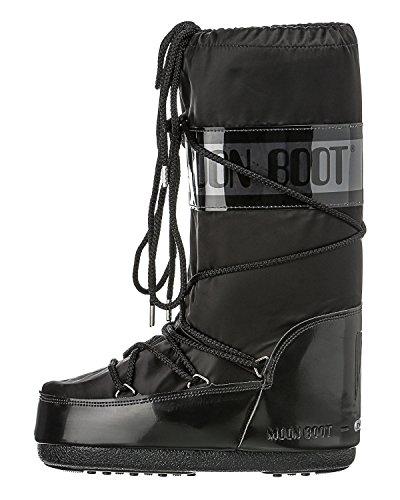 Tecnica MOON BOOT GLANCE 140168, Unisex-Erwachsene Schneestiefel, Schwarz (BLACK 3), EU 35-38