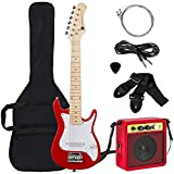 Best Choice Products 30in Kids Electric Guitar Beginner Starter Kit with 5W Amplifier, Strap, Case, Strings, Picks - Red
