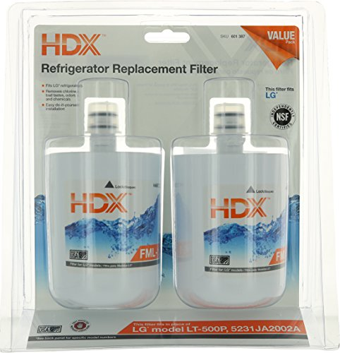 HDX FML-1 Replacement Water Filter / Purifier for LG Refrigerators (2 Pack)