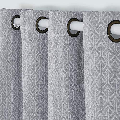 cortinas salon gris opaca