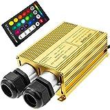Cablematic–Fuente de luz LED para Fibra óptica iluminación 2x 16W RGB 20mm RF