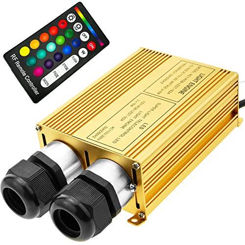 Fuente de luz LED iluminador para Fibra óptica 2x16W RGB 20 mm RF