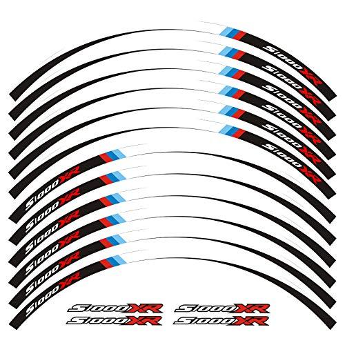 Calcomanías de la rueda de la motocicleta Pegatinas reflectantes Ramillas de llanta para BMW S1000XR S1000 XR Motorbike S1000XR 7 Color (Color : A)