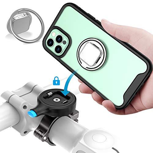 SOKUSIN Soporte Móvil Bici para iPhone 12 Pro MAX(6.7 Inches), Bicicleta Soporte de Teléfono, Anti-Choques Antideslizante Ajustable Soporte metálico Movil Bicicleta para teléfono con Funda Shockproof