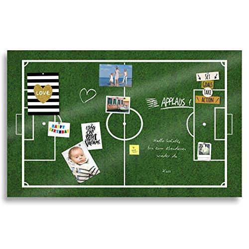 Cuadros Lifestyle Markerboard/Magnettafel | EM-Artikel 2020 | Europameisterschaft | WM | Fußball | Fußballfeld | Fußballplatz | Acrylglas | Verschiedene Größen |, Größe:200x120 cm