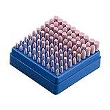 Hentek 100 Pcs Polissage Abrasif Monté Roue de Meulage D'outil Rotatoire en Pierre pour Outils Rotatoires de Dremel Tige de 3 mm
