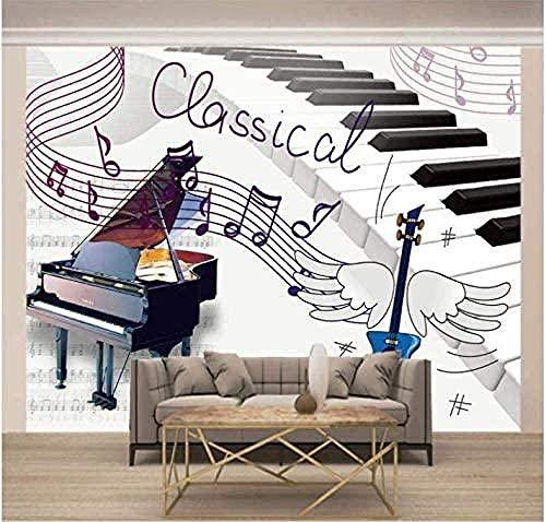 Murales Papel Pintado Piano Musical Wallpaper Art Póster De