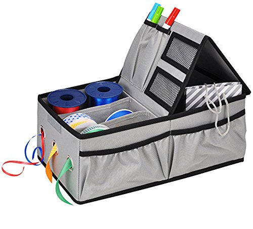 The Magic Toy Shop Caja de almacenamiento multiusos con cinta dispensadora para manualidades, bolsa de regalo