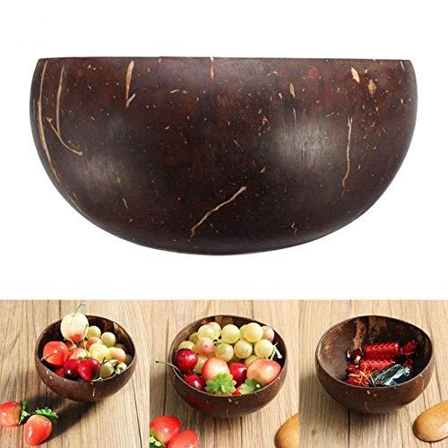 Miner 1 St Vintage Natuurlijke Kokosnoot Kom eco vriendelijke Ijs Kommen Creatieve Fruitschaal Handwerk Kunstwerk Decoratie, donkerbruin