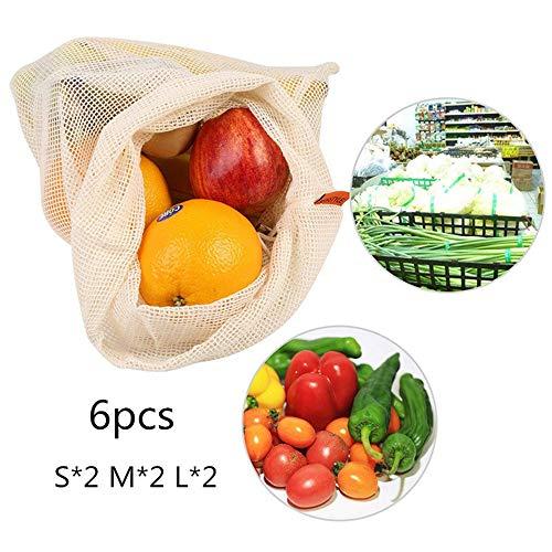 100x Chytaii Sac en Filet Maille pour Oeufs L/égumes Sac de Courses Shopping Fruits en Nylon Rouge