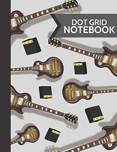 Dot Grid Notebook: Electric Guitar Softcover Paperback Dot Grid Journal // Notebook to Write in