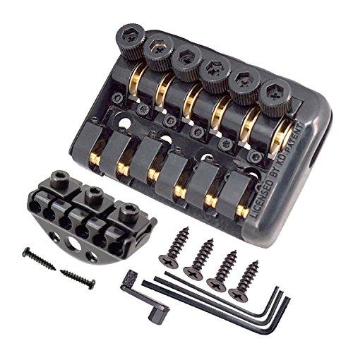 JD Moon Steg und Mechaniken für sechssaitige Headless-Gitarren, schwarz
