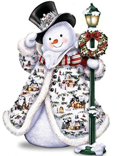 DIY 5D Diamond Painting Kit, Round Diamond Cross Stitch Christmas Cute Snowman Embroidery Art Craft for Canvas Wall Decor