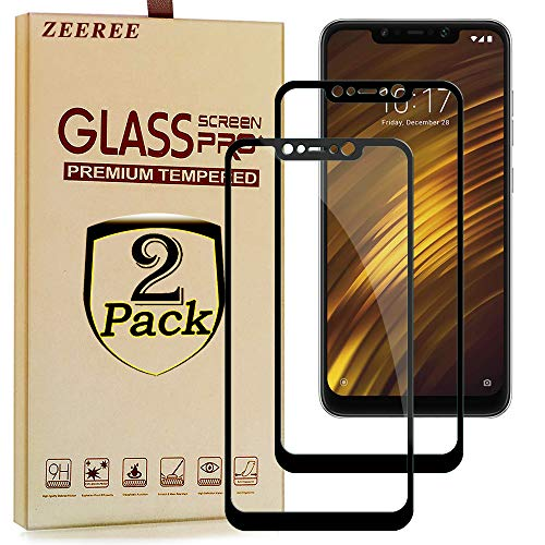 ZEEREE [2 Stück] für Xiaomi Pocophone F1 Panzerglas Schutzfolie, Ultra Strapazierfähig Härtegrad 9H Displayschutzfolie für Xiaomi Pocophone F1/Poco F1(6,18 Zoll)