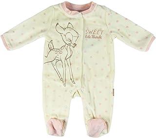Artesania Unisex-Kinder Pelele Velour Disney Bambi Strampler, Weiß Blanco C01, One Size Herstellergröße: 09M