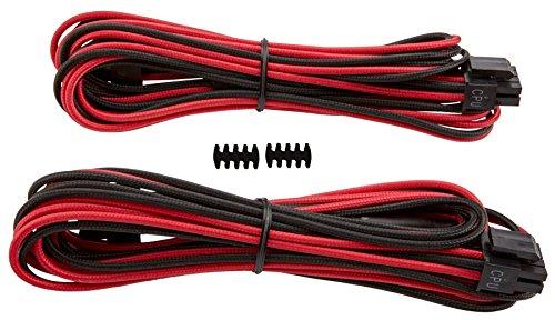 """Corsair CP-8920169 Premium Sleeved """"RMi-, RMx,- SF und Typ4 (Generation 3)-Serie"""" Netzteil EPS12V/ATX12V-Kabel rot/schwarz"""