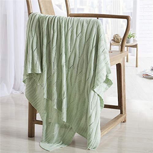 100% De Fibra De Bambú Manta Manta Microfibra Multicipada De Punto Manta De Punto Super Suave Suave Y Acogedora Brillante Manta Gruesa Para El Sofá Cama. (47.2 'x70.9' 70(Size:70.9*78.7In,Color:verde)