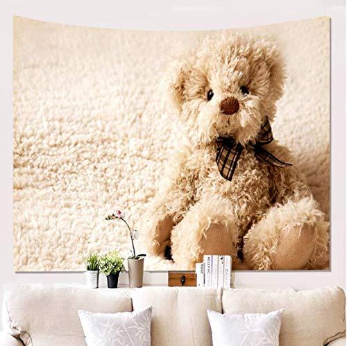 Maison Mur Poupée Ours Tapisserie Murale Tissu Fond Tissu Suspendu Tapisserie Décoration Murale Tapis Pour Chambre Salon 150 * 200 Cm