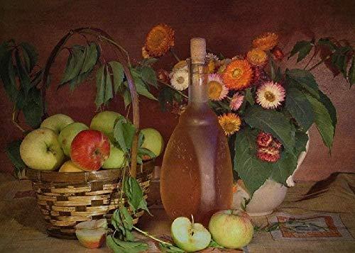 ELLCDRJ Vinagre de Frutas 1000 Piezas de Rompecabezas para Adultos: Cada Pieza del...