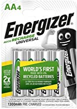 Energizer Rechargeable AA Batteries, Universal Double AA, Pack of 4