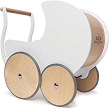 Kinderfeets, Pram Walker for Baby Kids, 2-in-1 Toddlers Toy Stroller - White