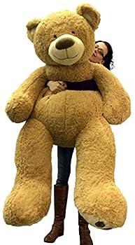 5 Foot Very Big Smiling Teddy Bear Soft with Bigfoot Paws Giant Stuffed Animal Bear