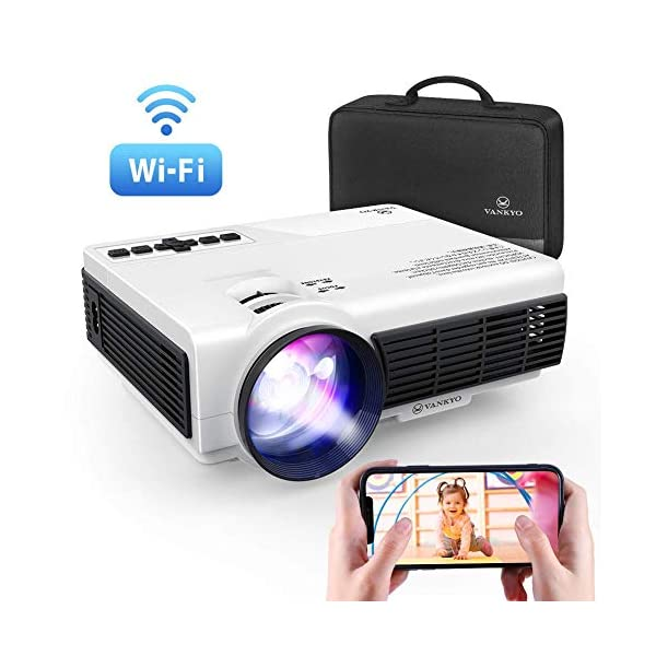 VANKYO Leisure 3W Mini Projector with Synchronize Smartphone Screen, 3600L Portable WiFi Projector Supports 1080P for iOS/Android Devices, Compatible with TV Stick, PS4, HDMI for Home & Outdoor