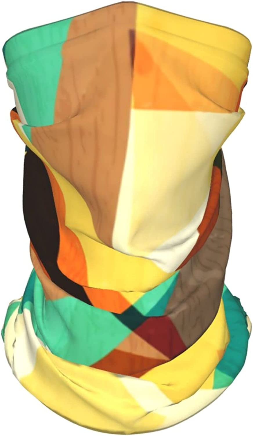 Retro 80s 90s Triangle6 Neck Gaiter Multipurpose Headwear Ice Silk Mask Scarf Summer Cool Breathable Outdoor Sport 4 Pcs