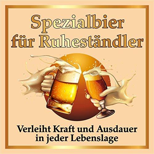 RAHMENLOS 3 St. Original Design: Selbstklebendes Bier-Flaschen-Etikett zum Ruhestand