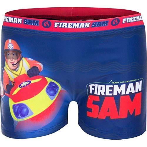 Feuerwehrmann-Sam Badehose Badeshorts Badepants, Farbe:Blau, Größe:110 (5 A)
