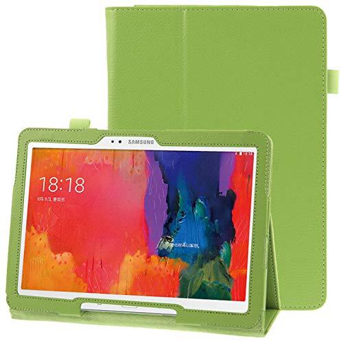 Caja Protectora de la Tableta Funda de Cuero con Textura con Soporte for Galaxy Tab Pro 10.1 / T520 (Azul) (Color : Green)
