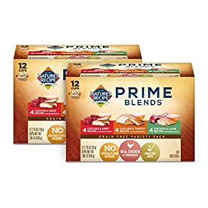Nature's Recipe Prime Blends Wet Dog Food, Variety Pack Recipe, 2.75 Ounce Cup (Pack of 24), Grain Free