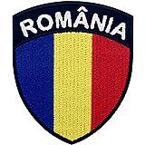 Bandera de escudo de Rumania Parche Bordado de Aplicación con Plancha