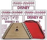 Lap Harp + Carrying Case + 3 Disney Song Packs (48 songs total)