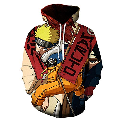 Naruto Niño Sudadera con Capucha Anime Ropa Deportiva Casual Impreso 3D Impresión Pullover Anime Manga Larga Hoodie Itachi Sasuke Kakashi Hoodie Cosplay-A01_4XL