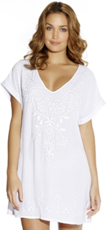 Fantasie Thea Embroidered Beach Tunic in Black OR White (FS5031) Sizes SXL