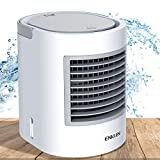 Portable Air Conditioner, Quiet USB Desktop Small Mini Personal Evaporative Air Cooler Fan with 7 Colors Night Light, for Home Office Outdoors Travel, 3 Speed Levels