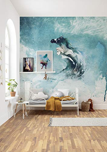 Komar Frozen vlies fotobehang 250 x 250 cm (Breite x Höhe), Bahnbreite 50 cm multicolor