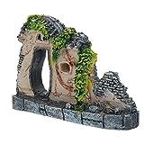 Toyvian Acuario Pecera Vista de Montaña Resina Musgo Árbol Cueva Peces Tanque Piedra Ornamento Paisaje Acuario Decoración