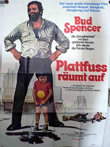 Plattfuss räumt auf - Bud Spencer - Filmposter 120x80cm gefaltet-G2