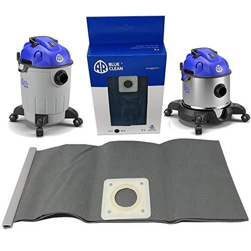 Parpyon® Bolsa de filtro de repuesto para aspiradora Annovi Reverberi 2 unidades – Accesorios de repuesto para aspiradoras de polvo de bidón AR Blue Clean Black&Decker compatible (20 l)