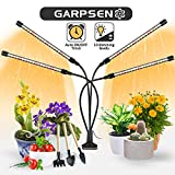 Plant Grow Light for Indoor Plants, Garpsen Upgraded Version 4 Head 80 LED Sunlike Full Spectrum Grow Lamp with Timer, 3 Lighting Mode, 10 Dimmable Levels, Professional for Seeding Succulents Herbs