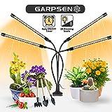 Garpsen Lampe pour Plantes, 2020 Nouvelle 80 LEDs 4 Heads Lampe de Croissance, Chronométrage AUTO - ON/OFF Lampe Led Horticole pour Semis, Succulentes, Orchidee(660nm/3000K/5000K)