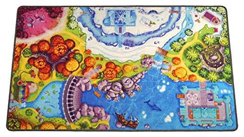 HuggyPlay Spielteppich Kinderteppich, Motiv Prinzessin, 90 x 150 cm