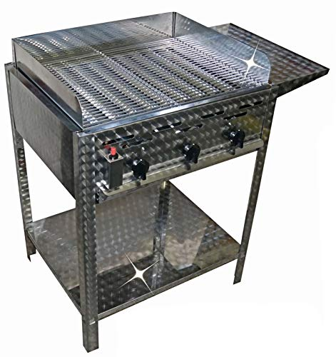 Qualitäts- GASGRILL 3 flammig Untergestell Ablage Windschutz Bräter BBQ Gastro