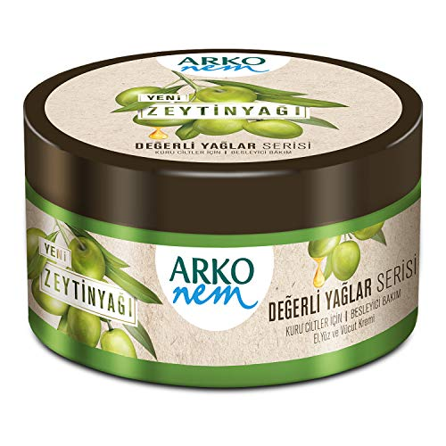 Arko Nem Creme, Olivenöl Creme für Körper - Gesicht und Hände, 250 ml Dose