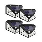 Luz Solar Exterior con Sensor de Movimiento, Luces 100 LED Solares Exteriore, 3...