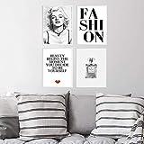 Marilyn Monroe Wand Bilder Mode Zitat Kunstdrucke Parfüm