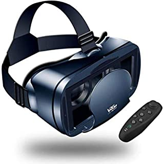 LEKAMXING VR Headset With Remote Controller Virtual Reality Headset for iPhone & Android 5.0-7.0inches Play Your Best Mobi...